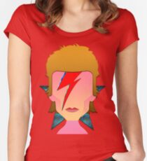 My Tribute to Starman  Women's Fitted Scoop T-Shirt
