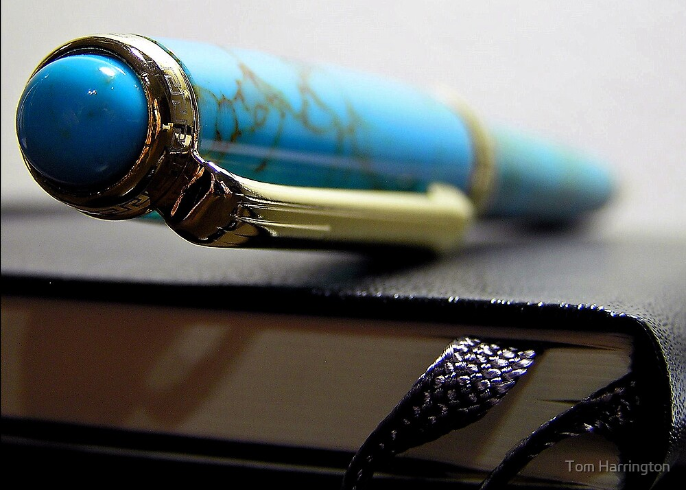 Turquoise Pen and Notebook by Tom Harrington
