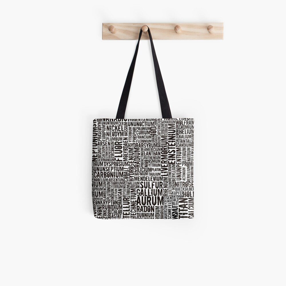 Chemical Elements Stofftasche
