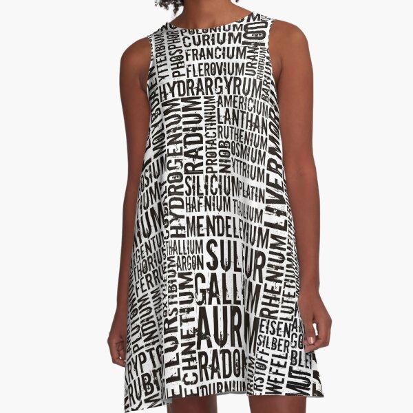 Chemical Elements A-Line Dress