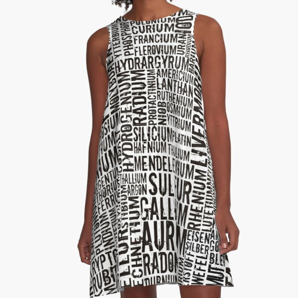 Chemical Elements A-Line Dress