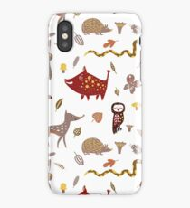 Wild forest animals iPhone Case/Skin