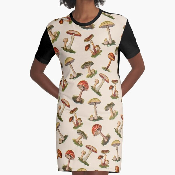 Mushrooms Graphic T-Shirt Dress