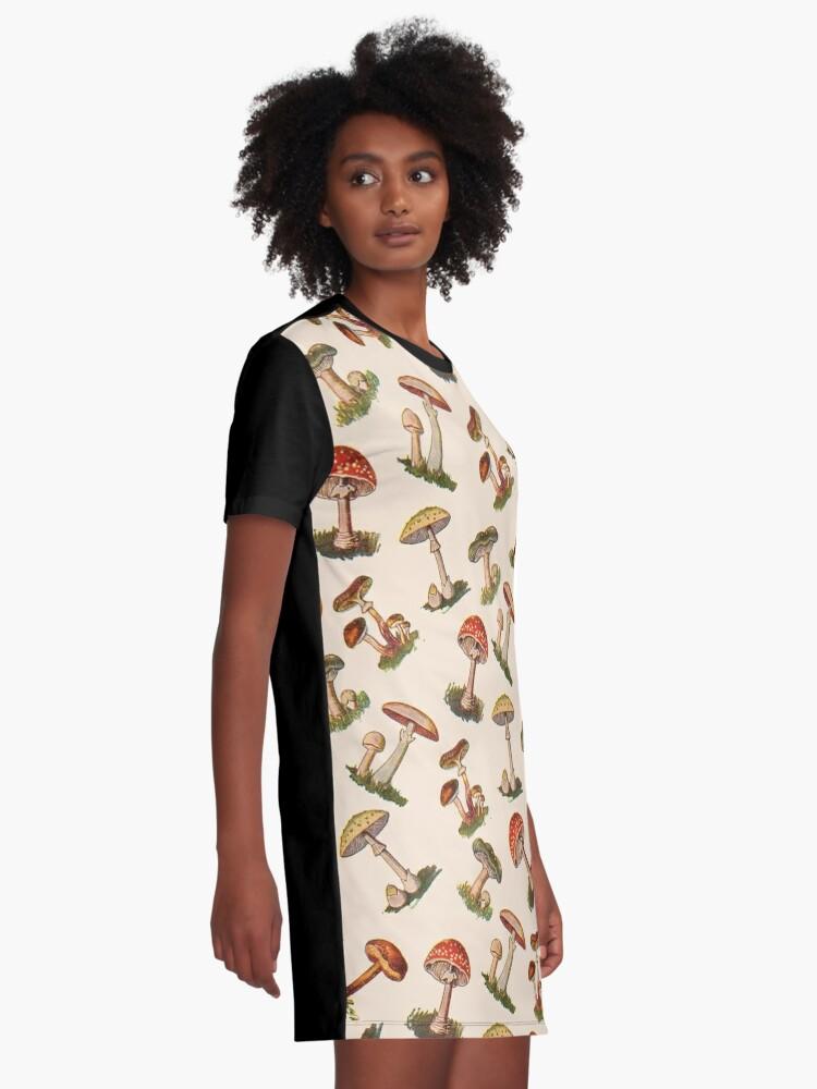 Alternate view of Mushrooms Graphic T-Shirt Dress