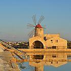 Traditional Sicilian Windmill by Alexandra Lavizzari