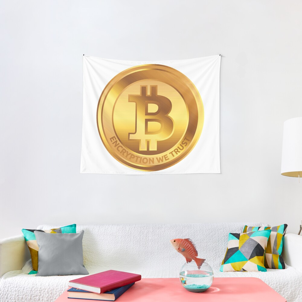 Golden Coin by RootCat Tapestry