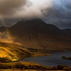 Rainbow at Cul Beag, Assynt, Scotland by Cliff Williams