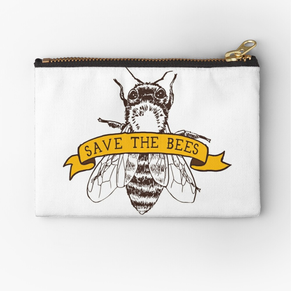Save The Bees! Zipper Pouch
