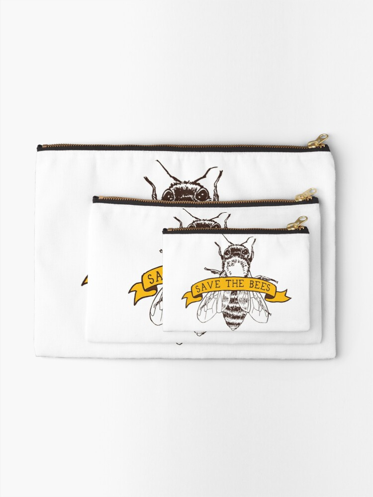 Alternate view of Save The Bees! Zipper Pouch
