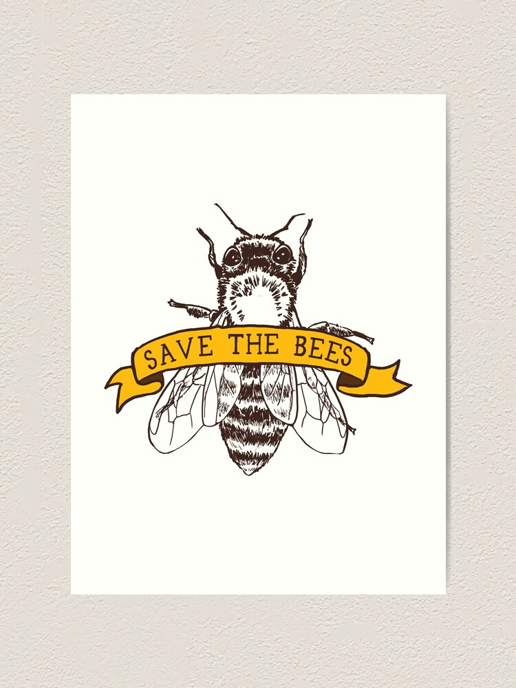 Alternate view of Save The Bees! Art Print