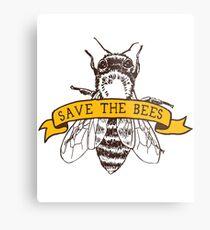 Save The Bees! Metal Print