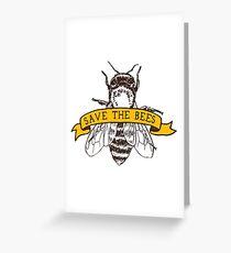 Tarjeta de felicitación ¡Salva a las abejas!