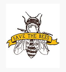 Save The Bees! Photographic Print