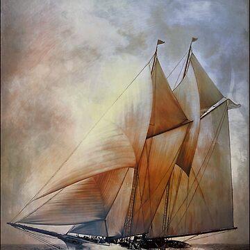 Schooner America in 1910. by andy551