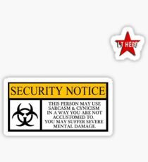 I.T HERO - Security Notice Sticker