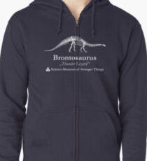 Dustin's Brontosaurus Skeleton Thunder Lizard Zipped Hoodie