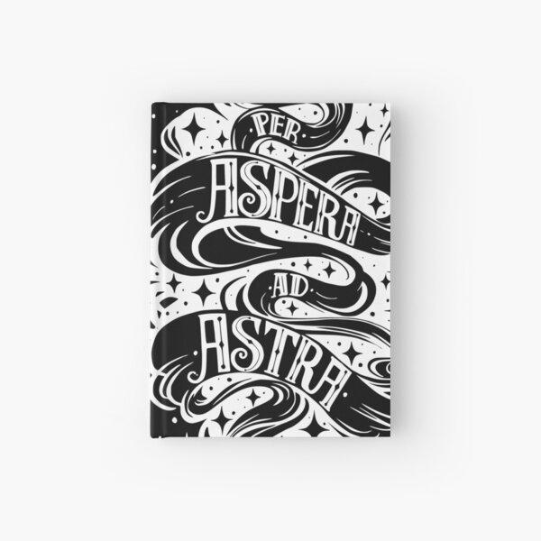Phrase Aspera Ad Astra Latin - Blanc Carnet cartonné