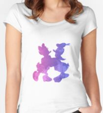 Couple Inspired Silhouette Women's Fitted Scoop T-Shirt
