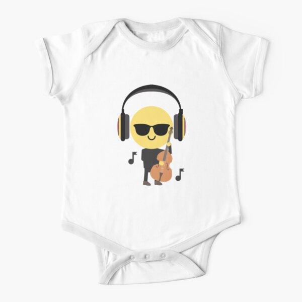 "Lustig Musik Body /"" Born To /"" Baby-Body Kopfhörer Smiley Club"