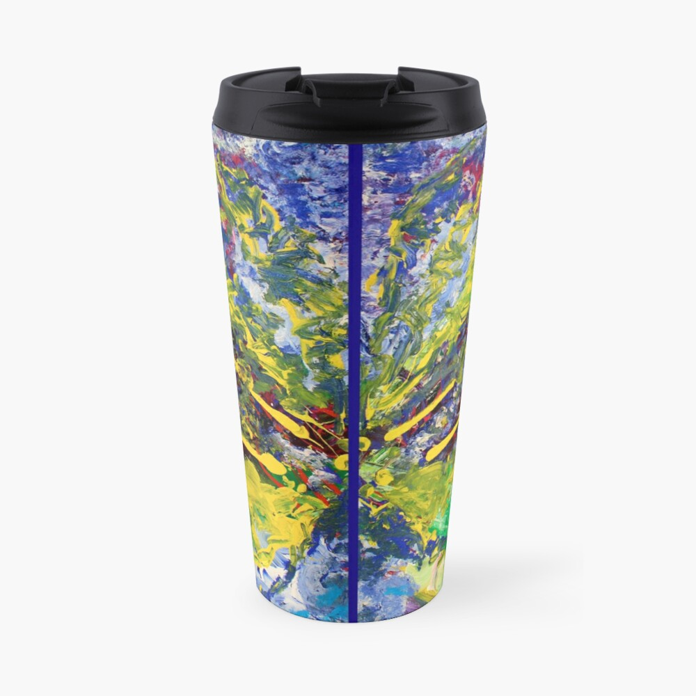 Contemporary Abstract Diptych Travel Mug
