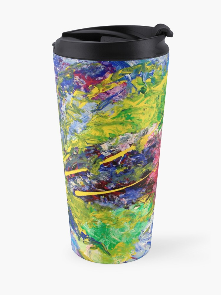 Alternate view of  Contemporary Abstract Diptych Travel Mug
