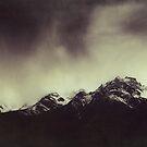 Shadow Mountains - Cloudy Italian Alps by Dirk Wuestenhagen