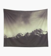 Shadow Mountains - Cloudy Italian Alps Wall Tapestry