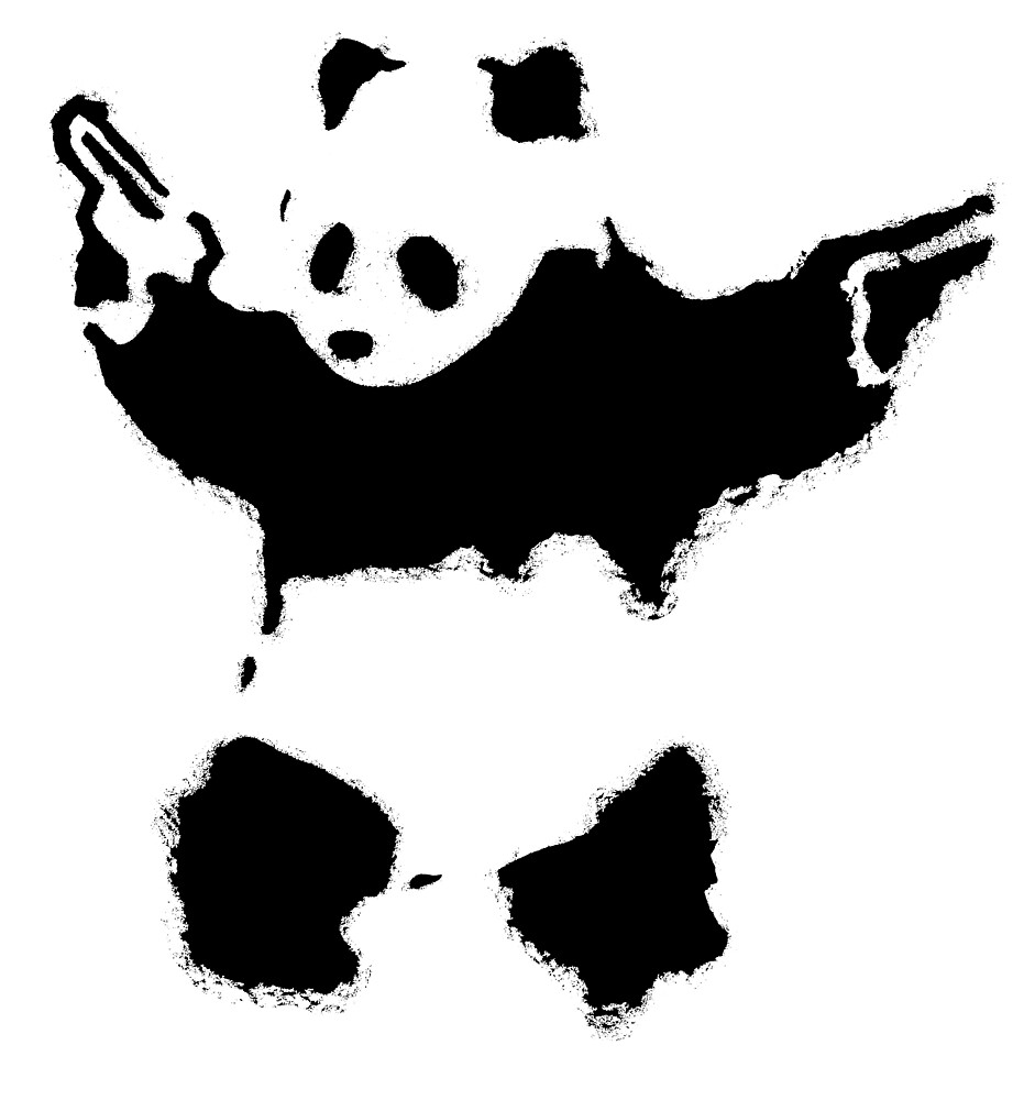 Banksy - Panda With Guns by streetartfans