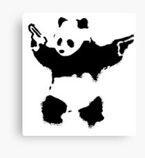 Banksy - Panda With Guns Canvas Print