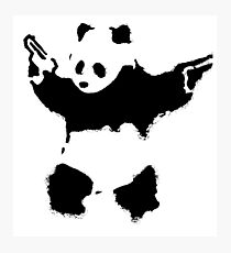 Banksy - Panda With Guns Photographic Print