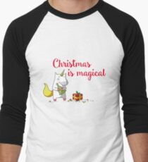 Christmas is magical Men's Baseball ¾ T-Shirt
