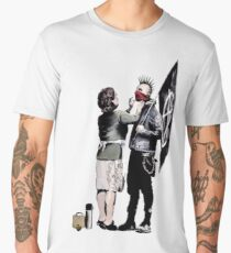 Banksy - Anarchist And Mother Men's Premium T-Shirt