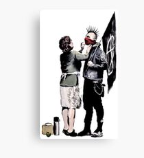 Banksy - Anarchist And Mother Canvas Print