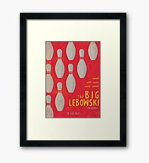 The Big Lebowski, alternative movie poster, Joel and Ethan Coen, minimal fine art print, Jeff Bridges, the dude, classic film, bowling Framed Print