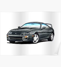 CarsinArt Enthusiast Series - 1996 Supra JZA80 by Inspia Creative Poster