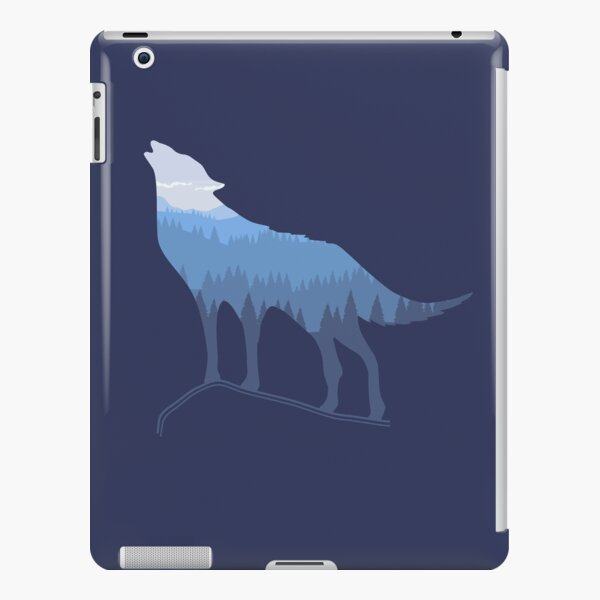 Call of the Gray Wolf across the forest mountains iPad Snap Case