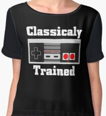 Classically Trained Old Nes Controller Gamer Women's Chiffon Top