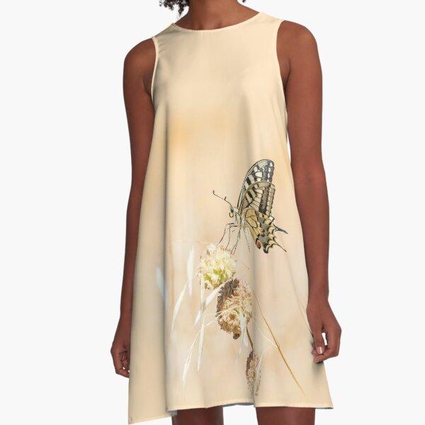 Fragile beauty of swallowtail butterfly A-Line Dress