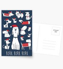 Postales perros en Navidad - bork bork bork