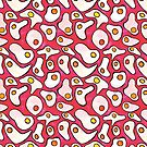 Fried Eggs Repeating Pattern by JodieChristine