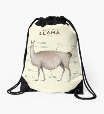 Anatomy of a Llama Drawstring Bag