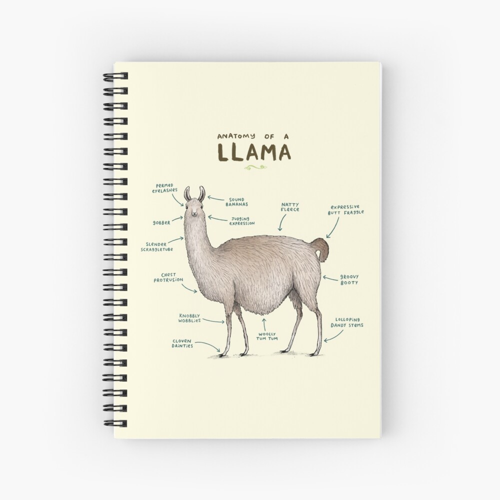 Anatomy of a Llama Spiral Notebook