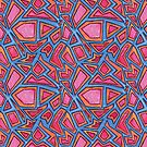 Graphic Shapes Bright Pattern by JodieChristine