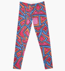 Graphic Shapes Bright Pattern Leggings