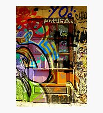 Graffiti door art Photographic Print