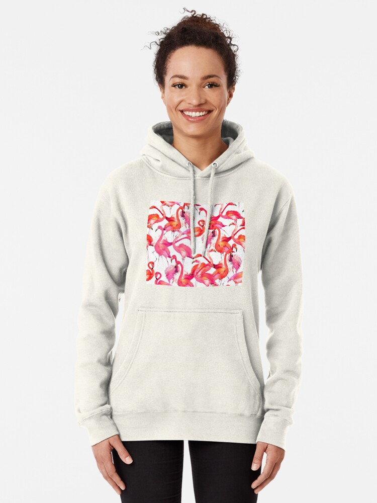 Alternative Ansicht von Flamingo Hoodie