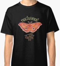 nocturnal orange moth running on coffee on dark background Classic T-Shirt