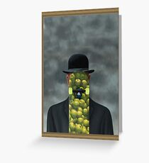 Magritte was a skater Greeting Card