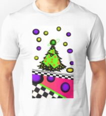 trippy psychedelic fun retro 80's /90's christmas tree T-Shirt