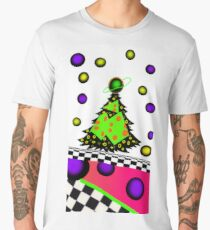 trippy psychedelic fun retro 80's /90's christmas tree Men's Premium T-Shirt